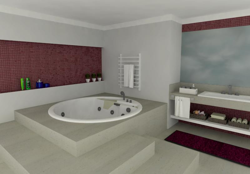 Aplicações de Pastilhas de Vidro Linha Cristal Puro – Casinha Bonita -> Banheiro Com Pastilha Marrom