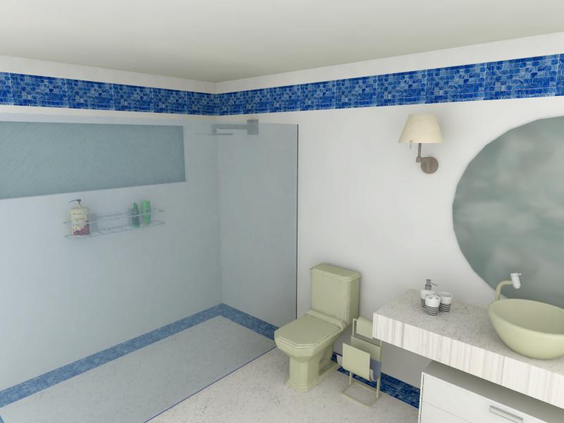 Aplicações de Pastilhas de Vidro Linhas Cristal Arte e Bricks – Casinha Bonita # Banheiro Com Faixa De Pastilha Azul