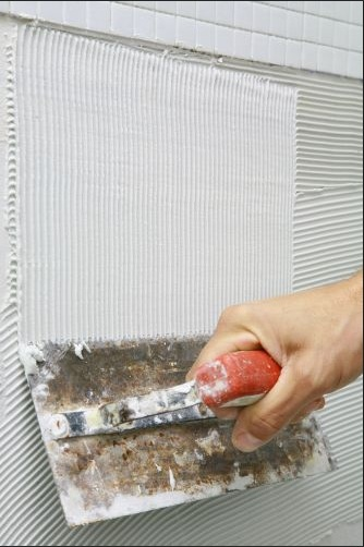 aplicao argamassa para pastilhas de vidro