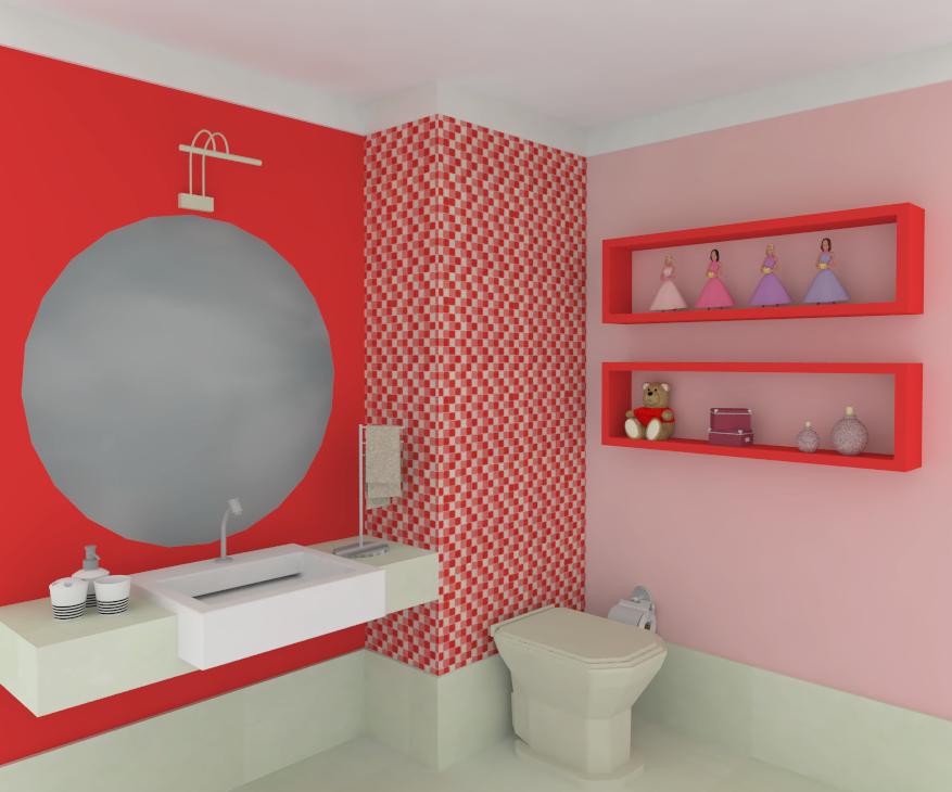 Banheiro com Pastilhas de Vidro Cristal IX