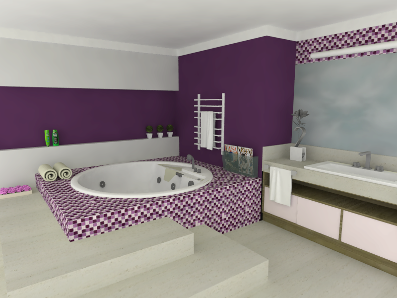 decoracao banheiro pastilhas:Pastilhas Banheiro – Cristal Miscelanea Violeta – Casinha Bonita