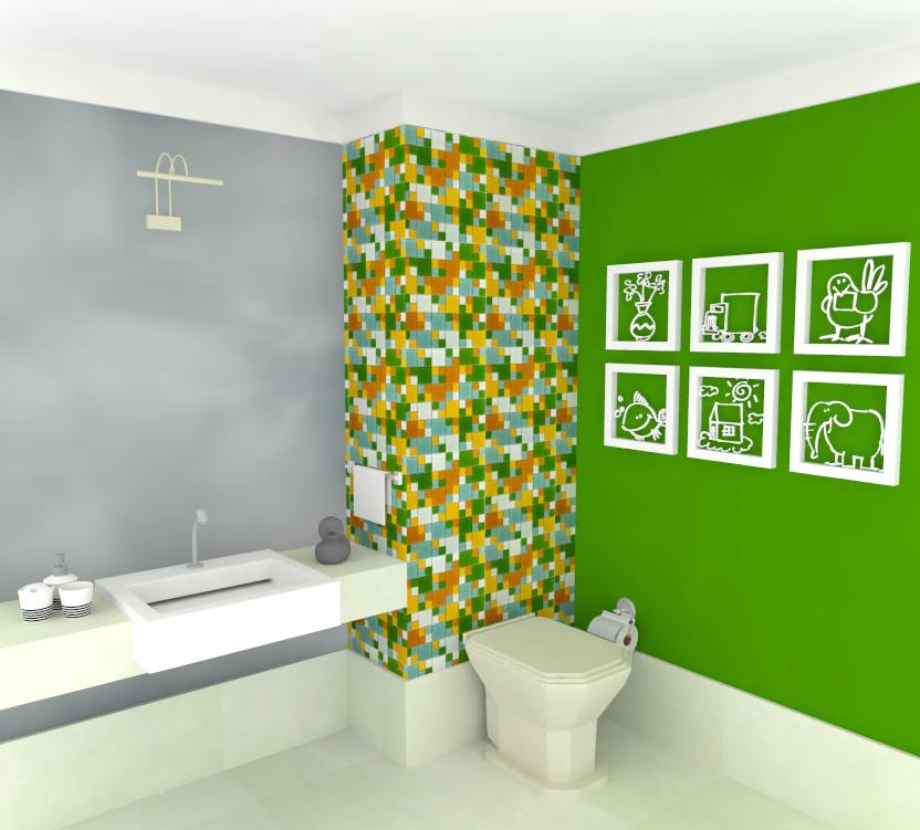 Banheiro com Pastilhas de Vidro Cristal VII