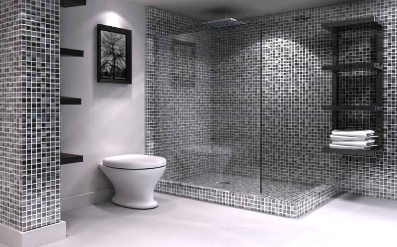Banheiro com Pastilhas de Vidro Cristal