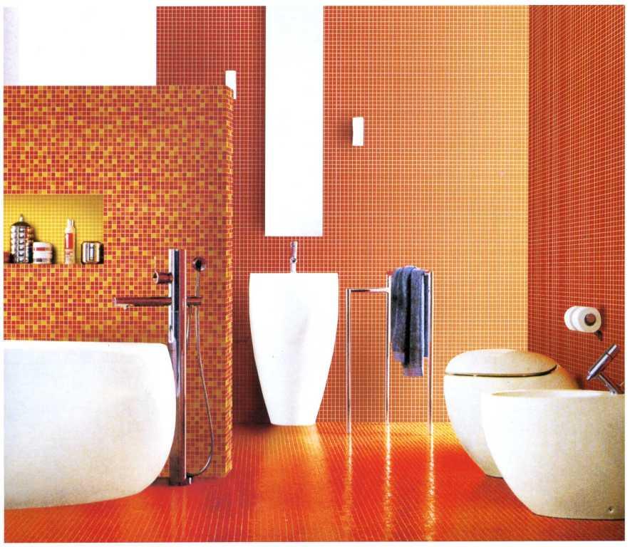 Banheiro com Pastilhas de Vidro Cristal III