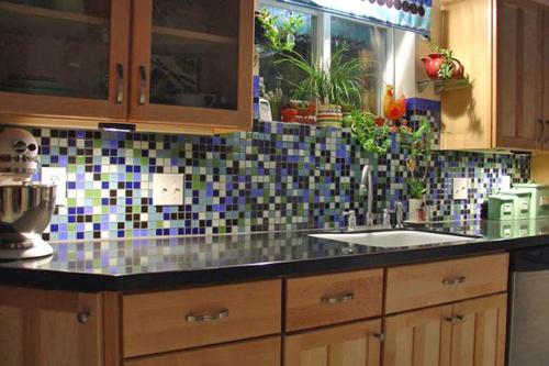 Cozinha Planejada com Pastilha de Vidro Cristal XI