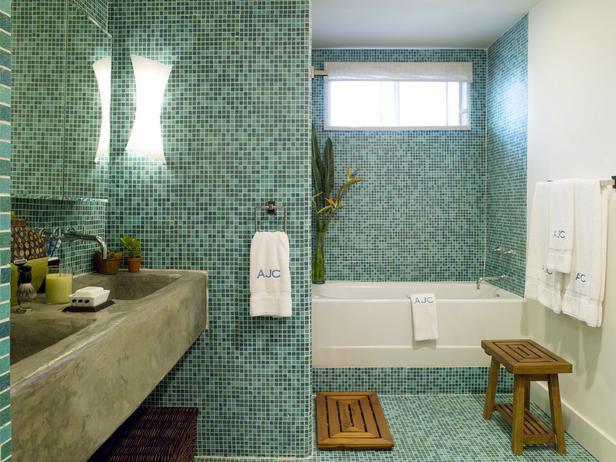 Banheiro com Pastilhas de Vidro - 052