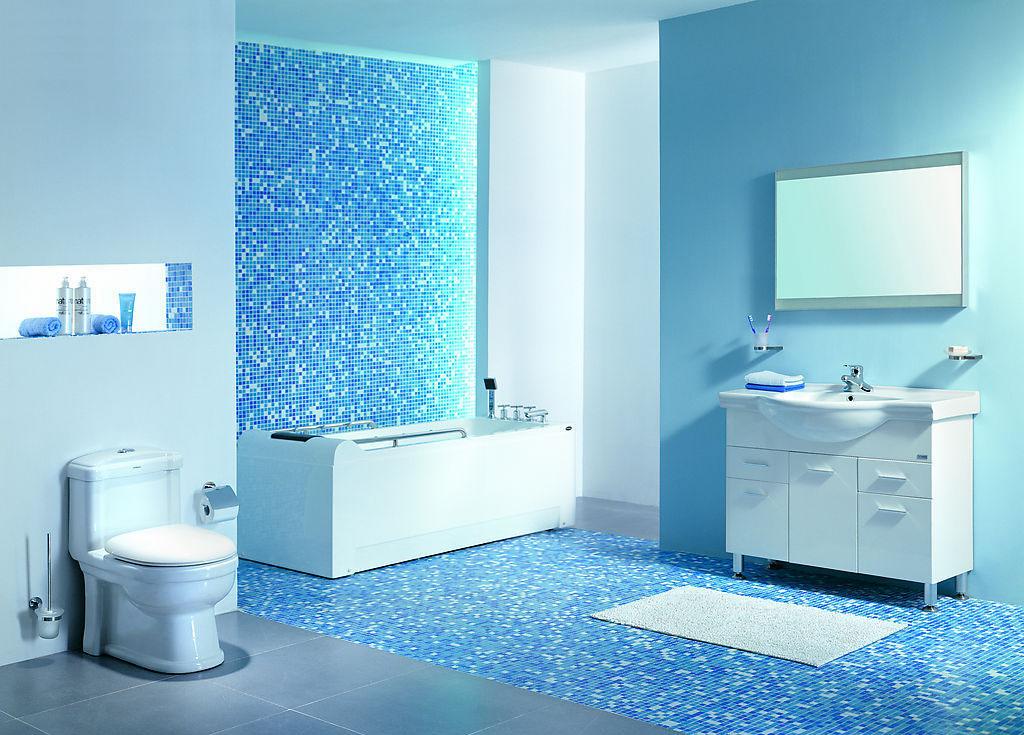 Pastilhas de Vidro – Banheiro – Casinha Bonita -> Decoracao Com Pastilhas De Vidro Em Banheiro