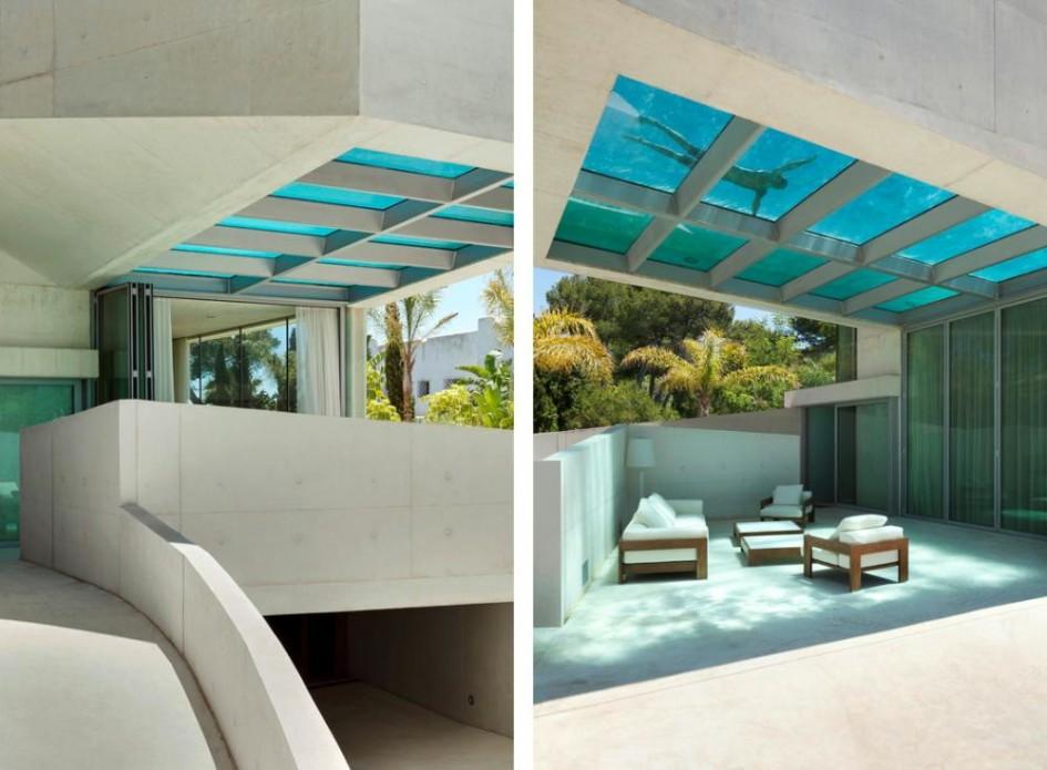 Piscinas com pastilhas de vidro casinha bonita for Piscine sur toit garage