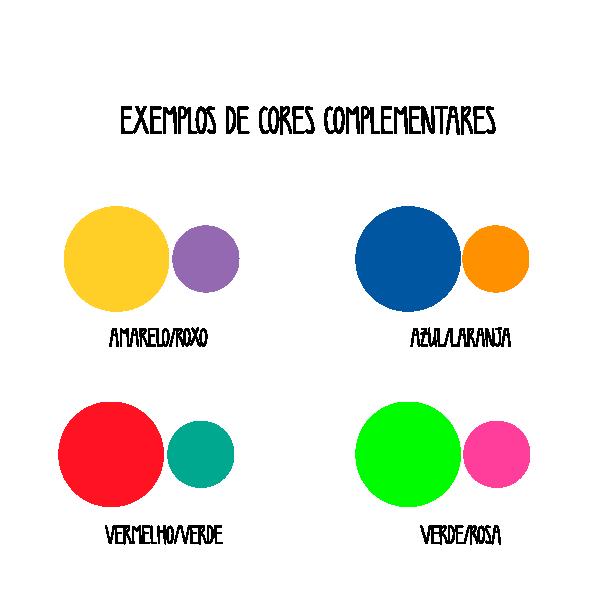 Exemplos de cores complementares