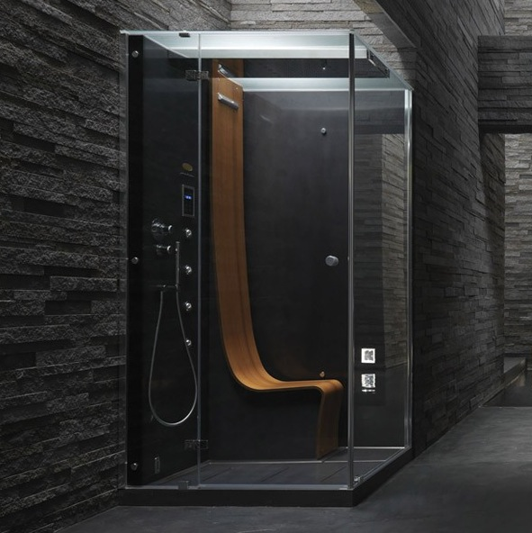 A ducha vertical Omega Morphosis é assinada por designer da Ferrari e custa a partir de R$59.000,00 Fonte: www.jacuzzi.nationwide-bathrooms.co.uk)
