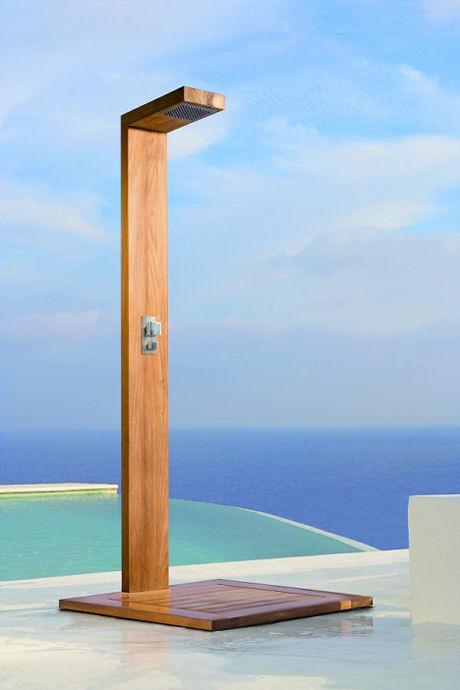 Duchas de hidromassagem verticais a solu o que faltava for Duchas para piscinas exterior