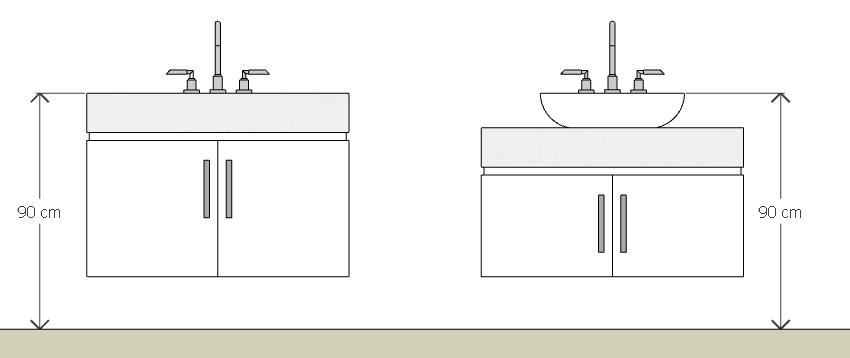 Cubas para banheiro o guia definitivo! – Casinha Bonita -> Tamanho Ideal Da Cuba Para Banheiro