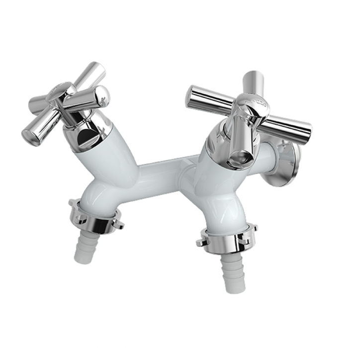 01.01.267 Azzo Torneira Bali  Tanque - Maquina  Parede Branco Cromo-700x700
