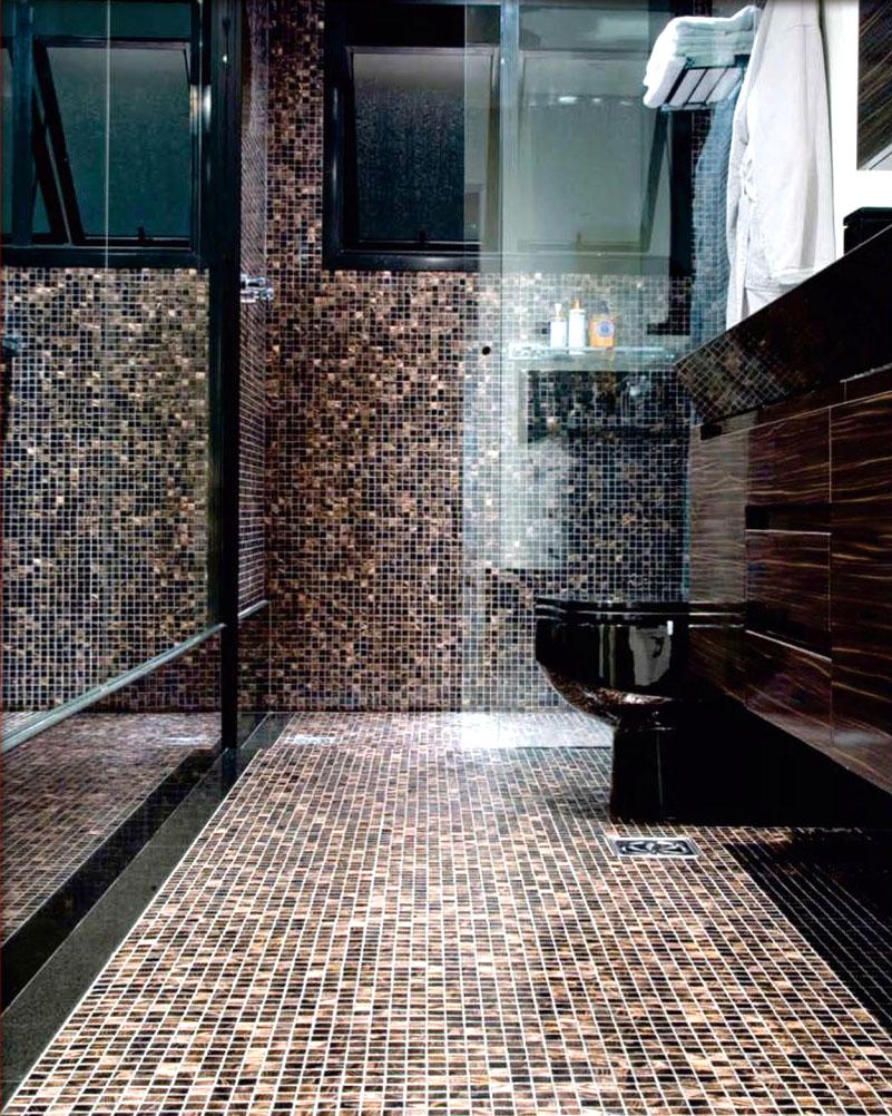 Piso de Pastilhas Você tem que conhecer! – Casinha Bonita -> Banheiro Com Revestimento Tipo Pastilha