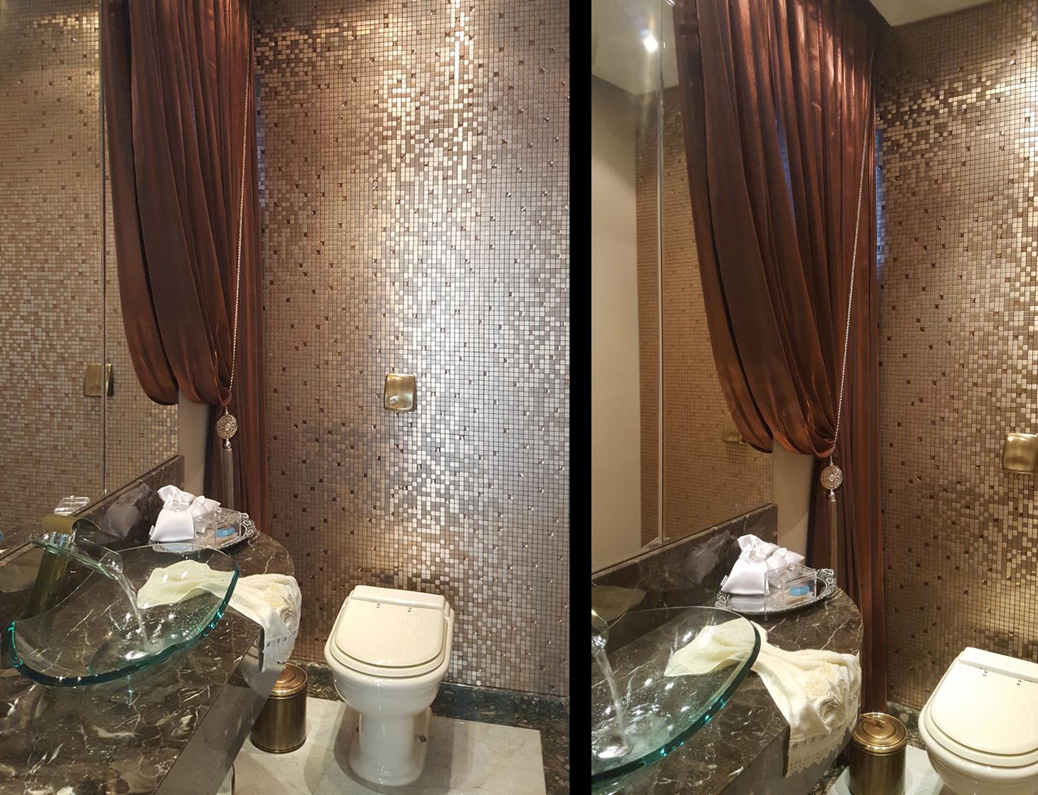 Pastilhas Adesivas Metálicas – Casinha Bonita -> Banheiro Pequeno Com Pastilhas Adesivas