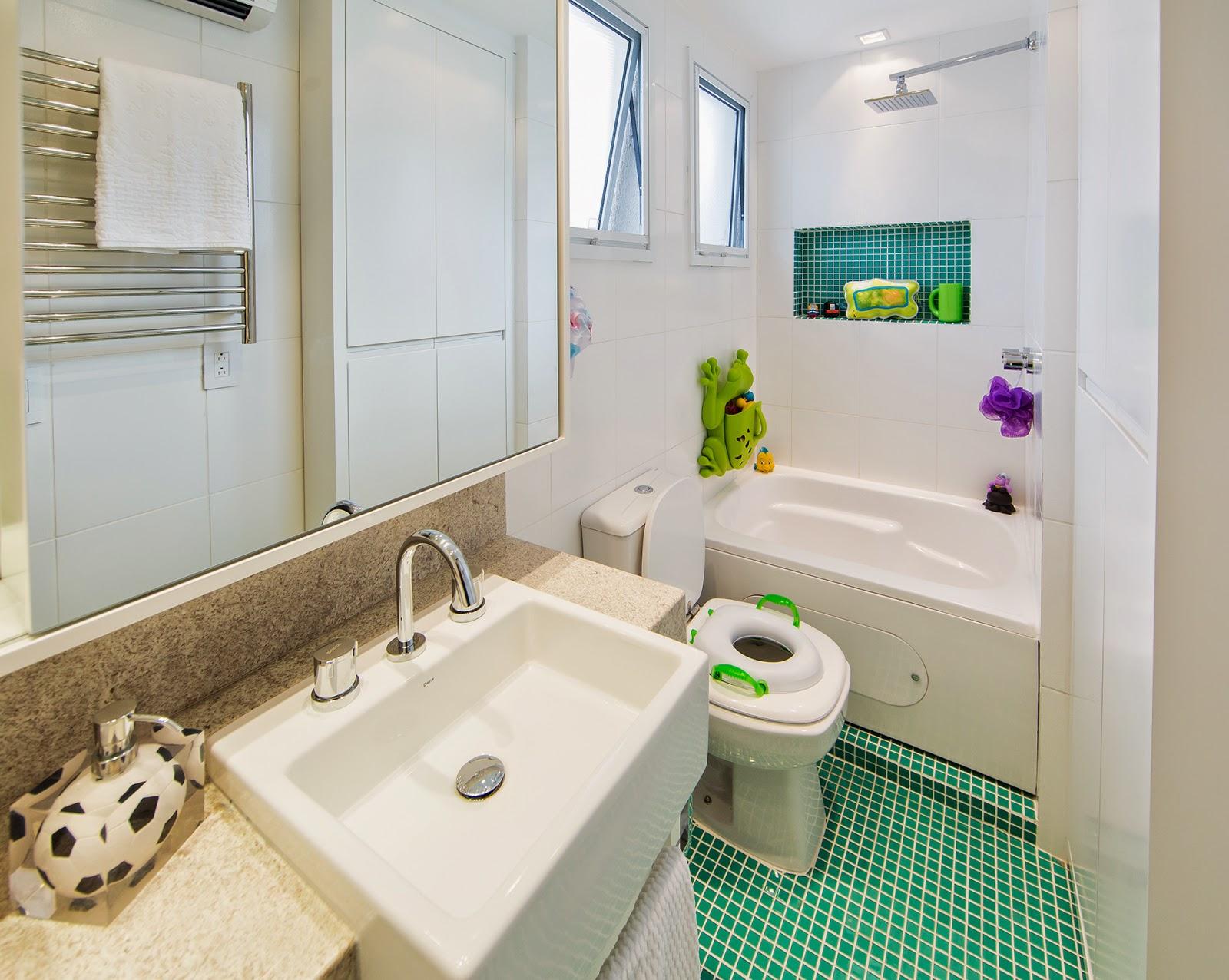 Ideias de decoração para o banheiro infantil dos sonhos – Casinha Bonita -> Banheiro Comprido E Estreito Com Banheira
