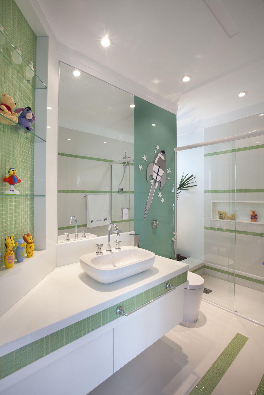 Ideias de decoração para o banheiro infantil dos sonhos – Casinha Bonita -> Acabamento Banheiro Simples