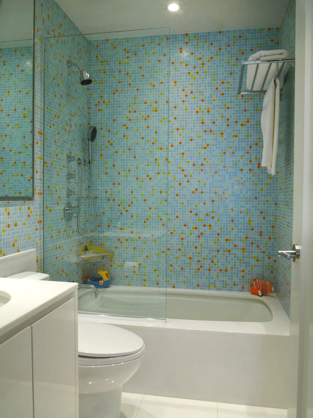 Banheiro com Pastilhas de Vidro Cristal XII