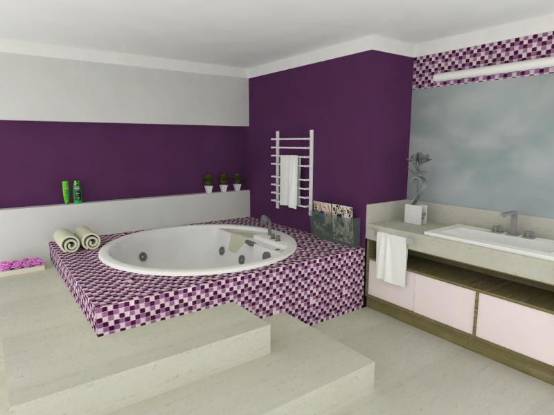 Banheiro com Pastilhas de Vidro Cristal II