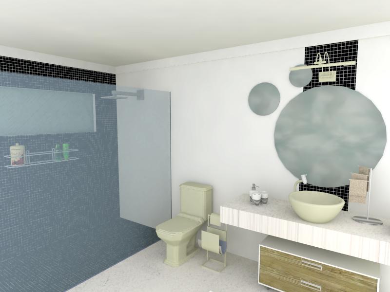Banheiro com Pastilhas de Vidro Cristal V