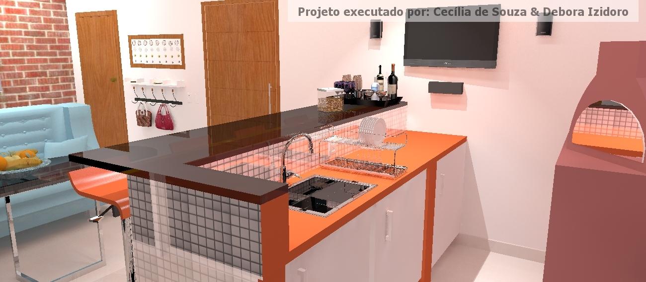 Cozinha e Churrasqueira com Pastilhas Inox II