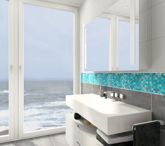 Banheiro com Pastilhas de Vidro - 038