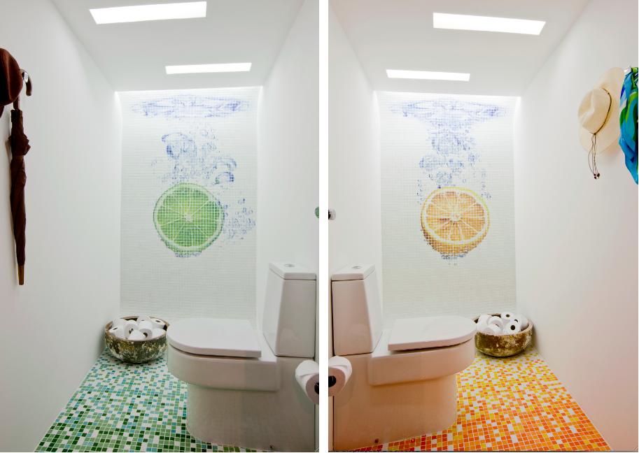 Banheiro com Pastilhas de Vidro - 050