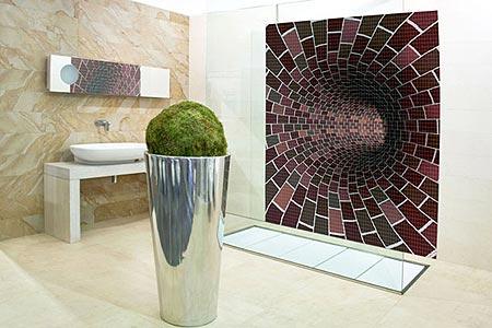 Banheiro com Pastilhas de Vidro - 051