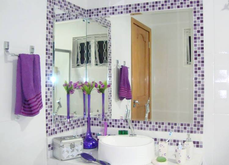 Banheiro com Pastilhas de Vidro - Jandira MT