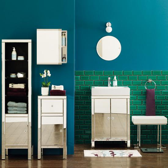 Banheiro Azul com Verde