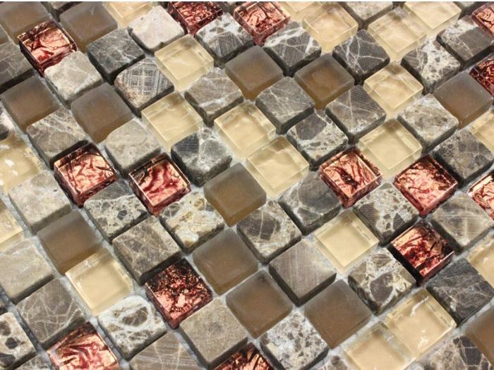 """As Pastilhas de Vidro e Pedra """"Niágara"""" são incríveis. Com pedra polida e vidro trabalhado em 3D, pode ser encontrada na Casinha Bonita neste link."""