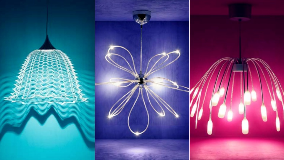 Pendentes com lâmpadas de LED. Fonte.