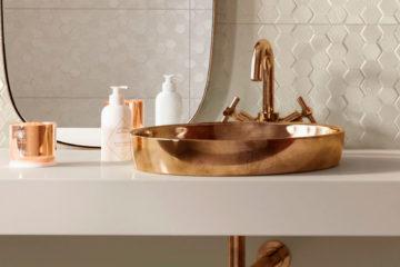Cuba Apoio Rose God Cobre Bronze para banheiro