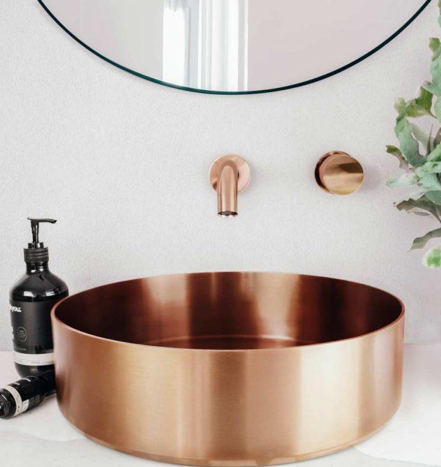 Cuba Apoio Banheiro Rose Gold