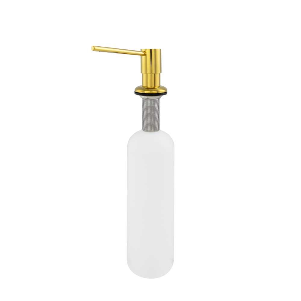 Dosador para Detergente Embutido Metal (Line Dourado)