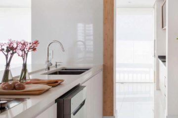 Cozinha com dosador de detergente embutido | Pia cozinha dispenser detergente de embutir