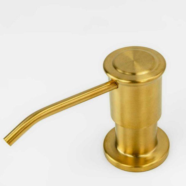 Dosador para Detergente Embutido Inox Vintage Dourado
