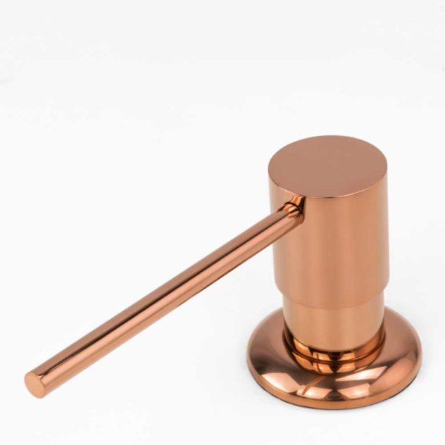 Dosador para Detergente Embutido Metal Line Rosé Gold