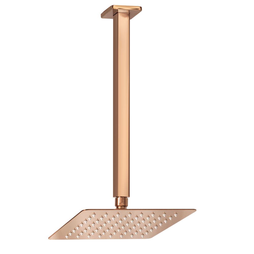 Ducha de Inox Quadrada 20x20 cm de Teto (Rosé Gold)