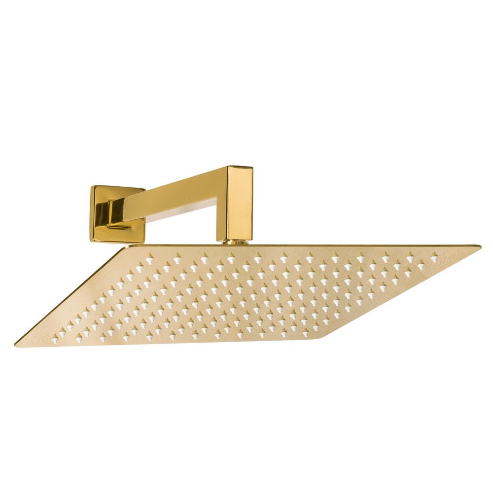 Ducha de Inox Quadrada 30x30 cm de Parede (Dourada)