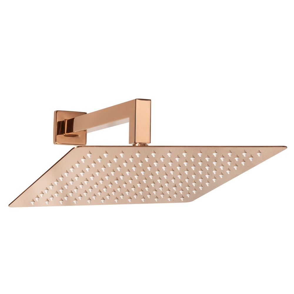 Ducha de Inox Quadrada 30x30 cm de Parede (Rosé Gold)