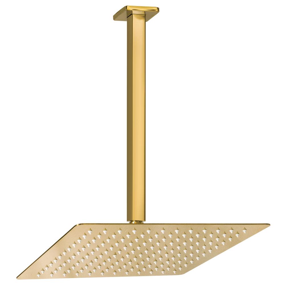 Ducha de Inox Quadrada 30x30 cm de Teto (Dourada)