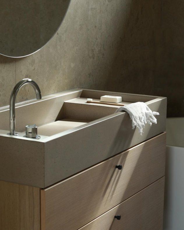 Bancada de banheiro com o comando separado (sala2 arquitetura e design) 3