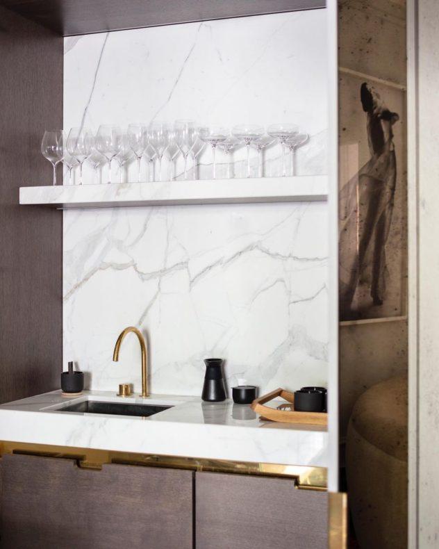 Bancada cozinha Torneira Monocomando Separado (Banda Design Studio)